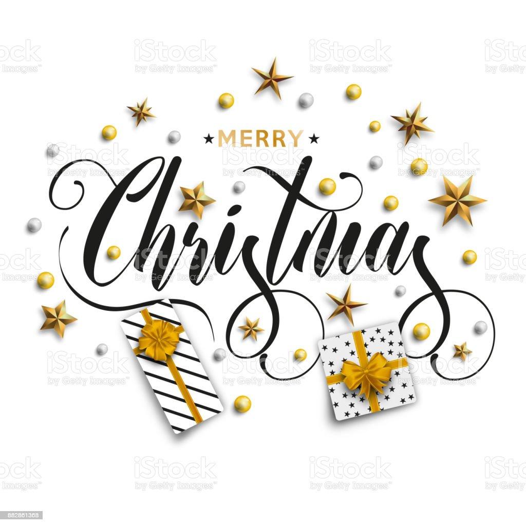 Feliz navidad inscripción - foto de stock