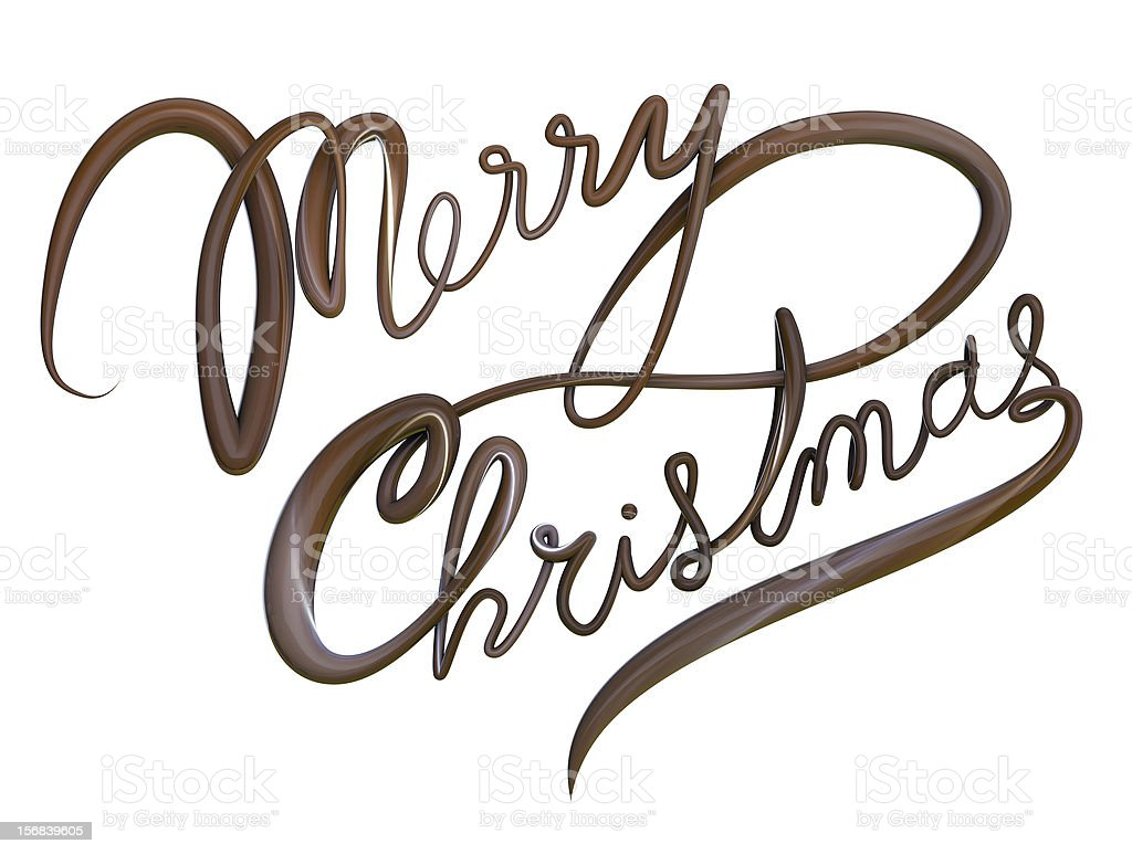 Merry Christmas Isolated Text royalty-free stock photo