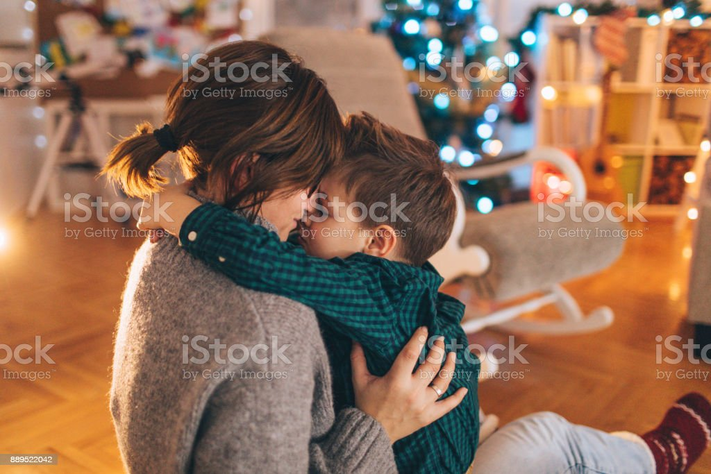 Merry Christmas, mom! stock photo