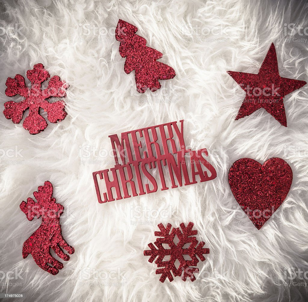 Merry Christmas one word background royalty-free stock photo