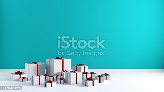Merry Christmas and Happy Holidays as a Greeting Card
