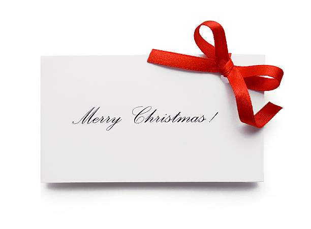merry christmas ! - gift tag note stock photos and pictures