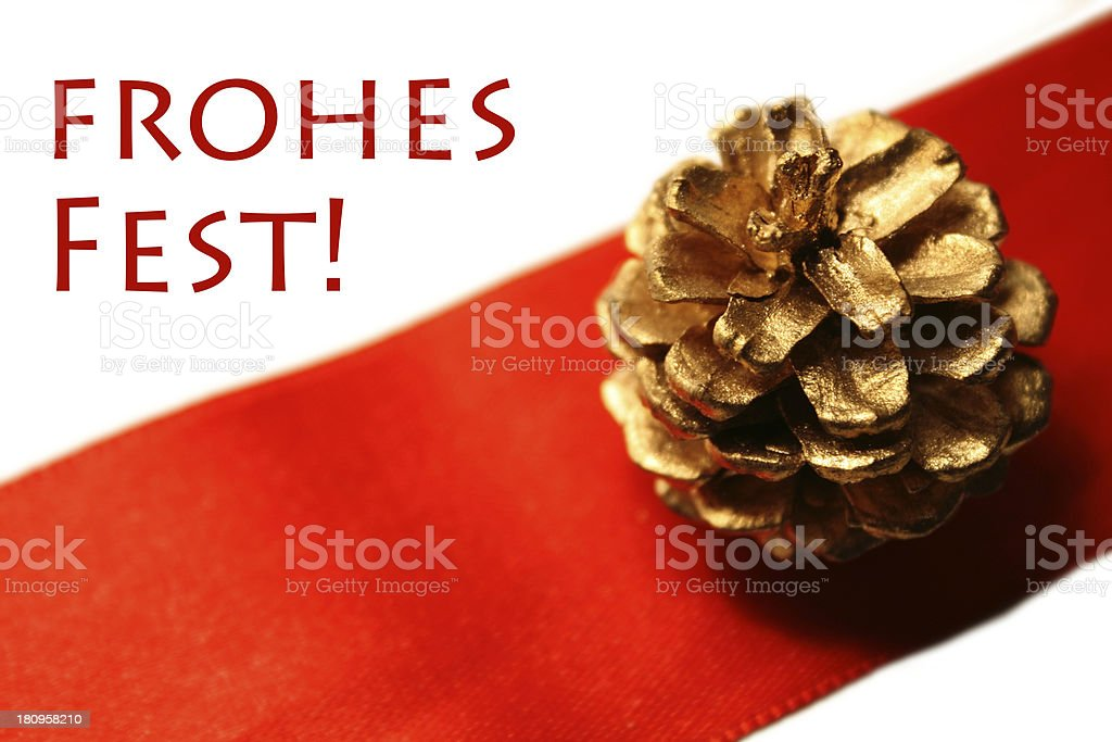 Frohes Fest - Merry Christmas in german royalty-free stock photo