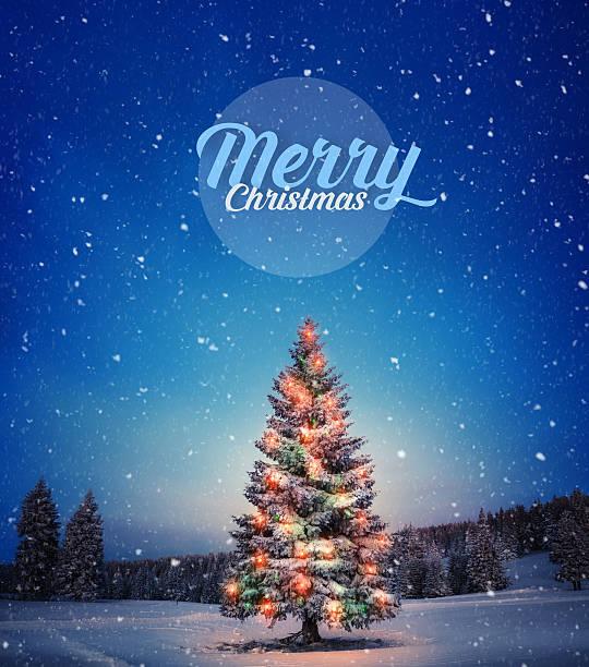 frohe weihnachten - es schneit text stock-fotos und bilder