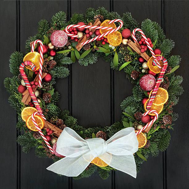 frohe weihnachten - türbänder stock-fotos und bilder