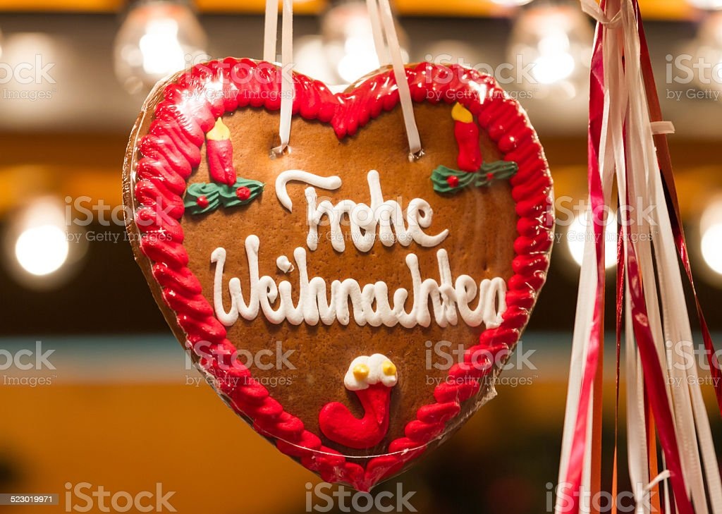 Frohe Weihnachten (Merry Christmas) stock photo