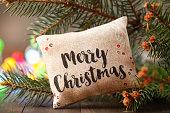 Christmas decoration with cushion