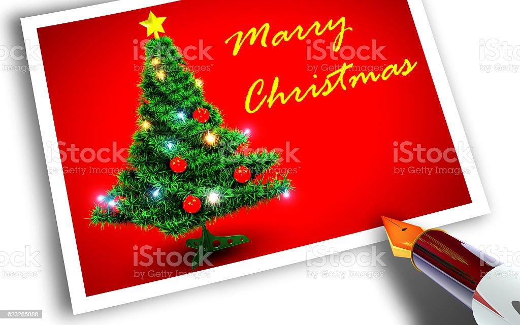 Feliz Navidad Tarjeta Postal Foto De Stock Y Más Banco De Imágenes De Adorno De Navidad Istock
