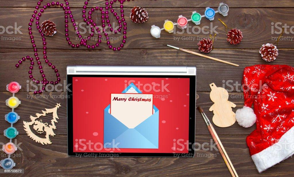Email Frohe Weihnachten.Frohe Weihnachten Erhielt Eine Email Auf Dem Tablet Weihnachten