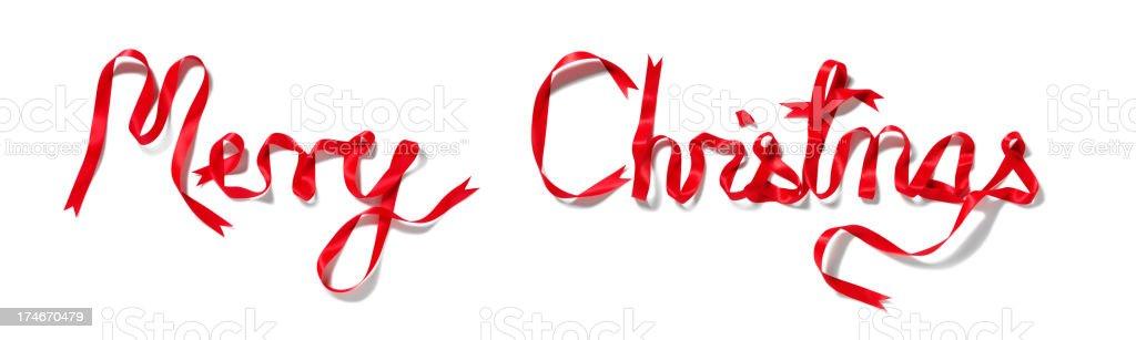 Merry Christmas Ribbon royalty-free stock photo