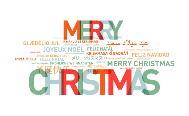 frohe weihnachten text karte aus der welt - texte zu weihnachten stock-fotos und bilder