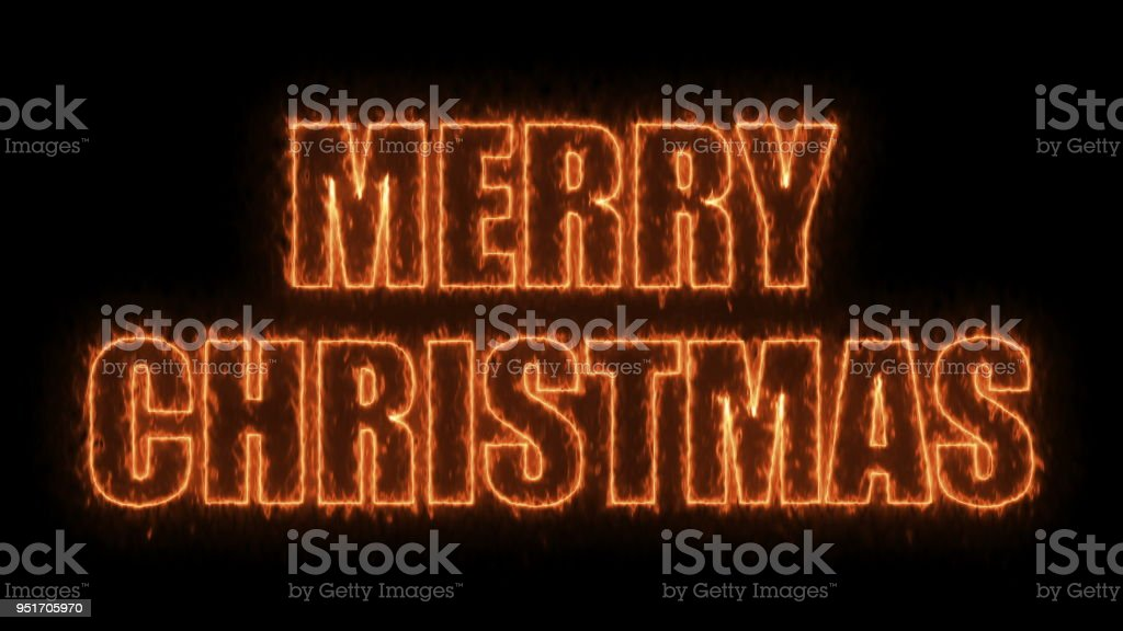 Merry christmas text on black, 3d render background, computer generating for holidays festive design stock photo