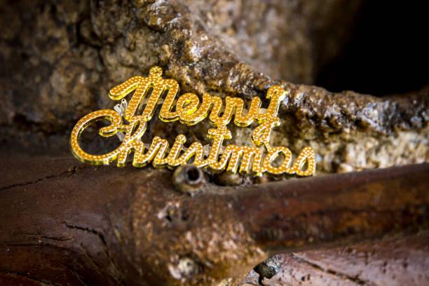 God jul text i trä bildbanksfoto