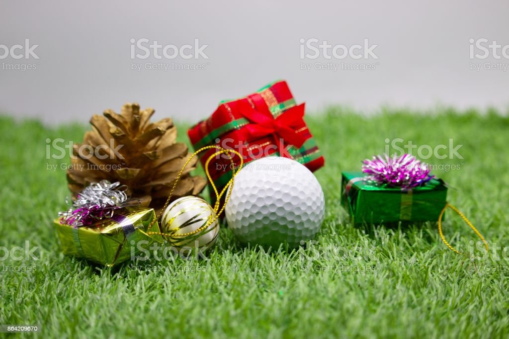 Merry Christmas to golfer royalty-free stock photo