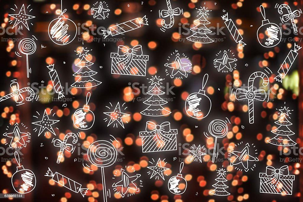 Merry Christmas Wallpaper Pattern Background Happy New Year Foto De Stock Y Más Banco De Imágenes De 2017