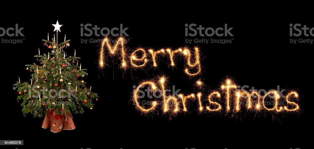 merry christmas with christmastree royalty-free stock photo