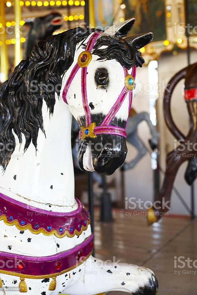 merry go round  at an amusement park royalty free stockfoto