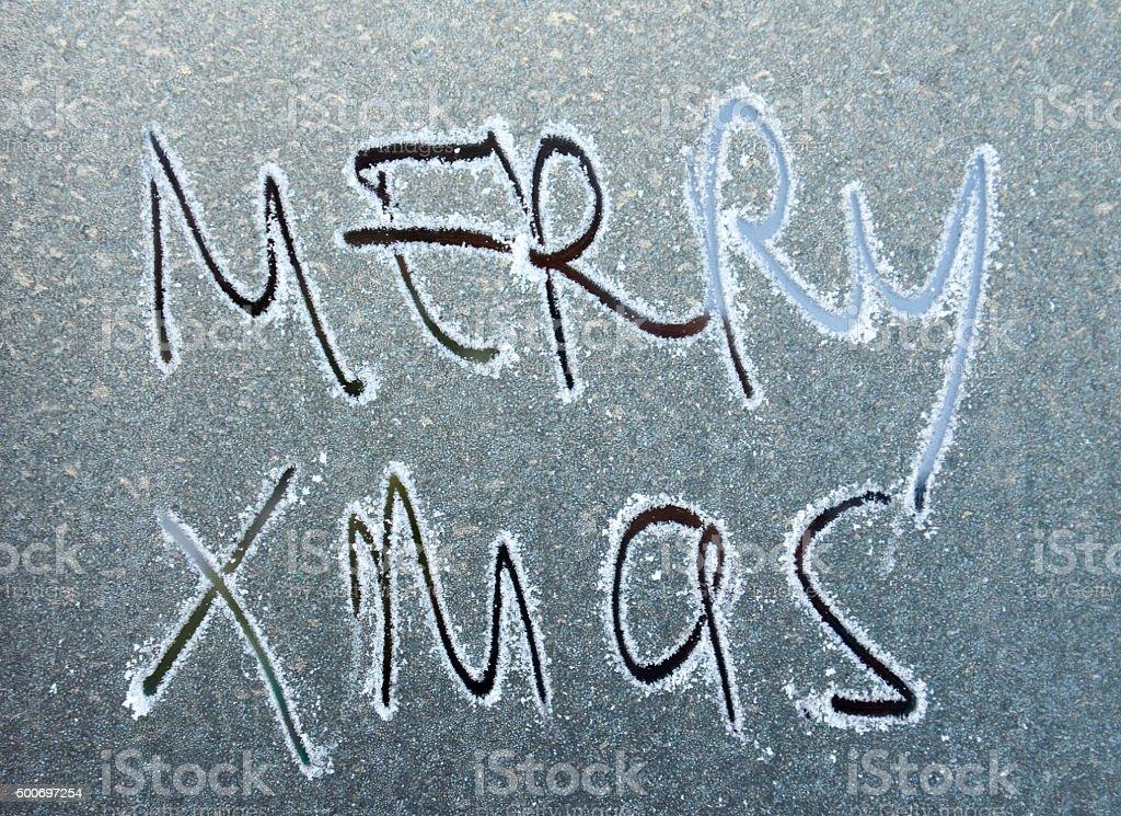 Merry xmas text stock photo