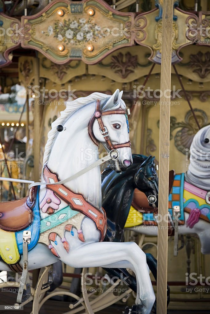 Merry-go-round Horses royalty-free stock photo