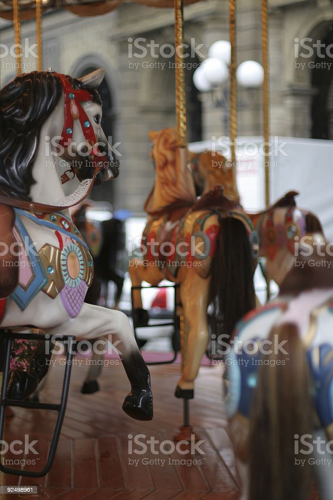 Merry-go-round royalty-free stock photo