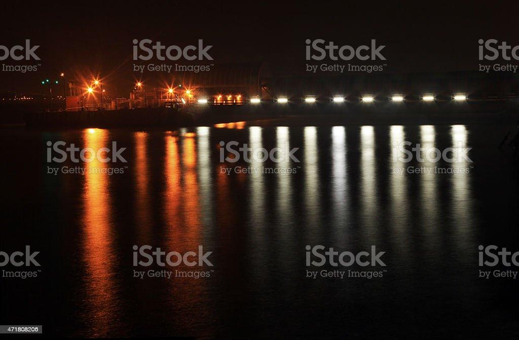 Mersey Ferry Landing Stage Lighting stock photo