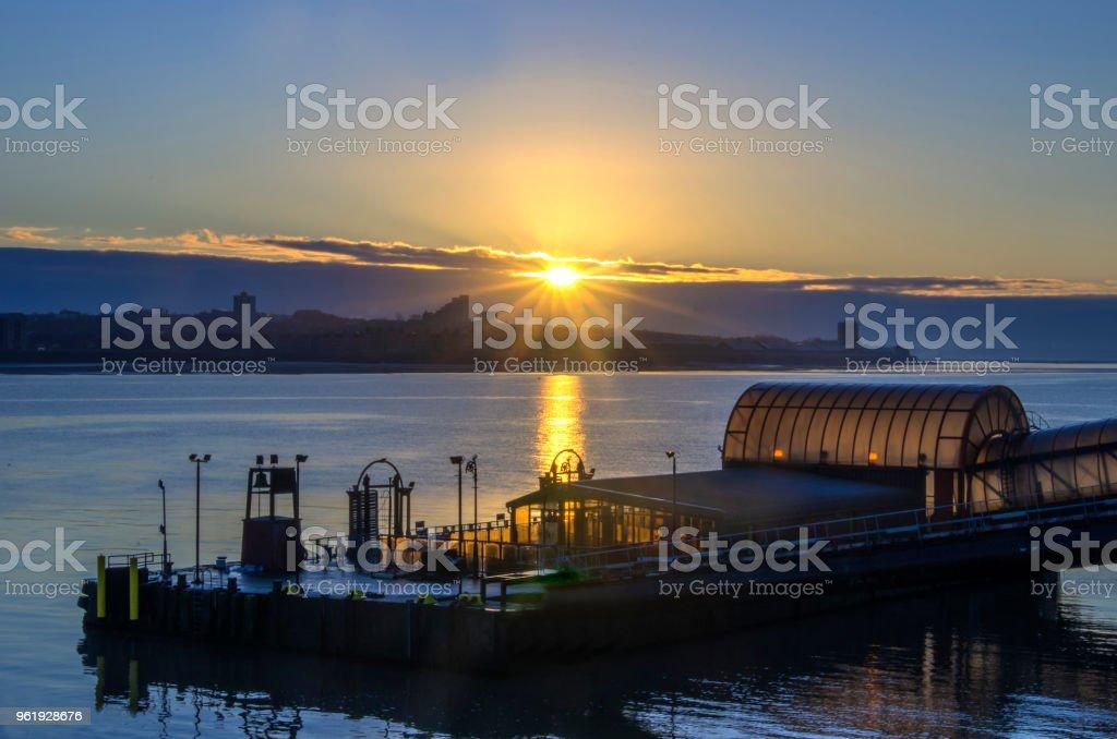 Mersey Sunrise stock photo