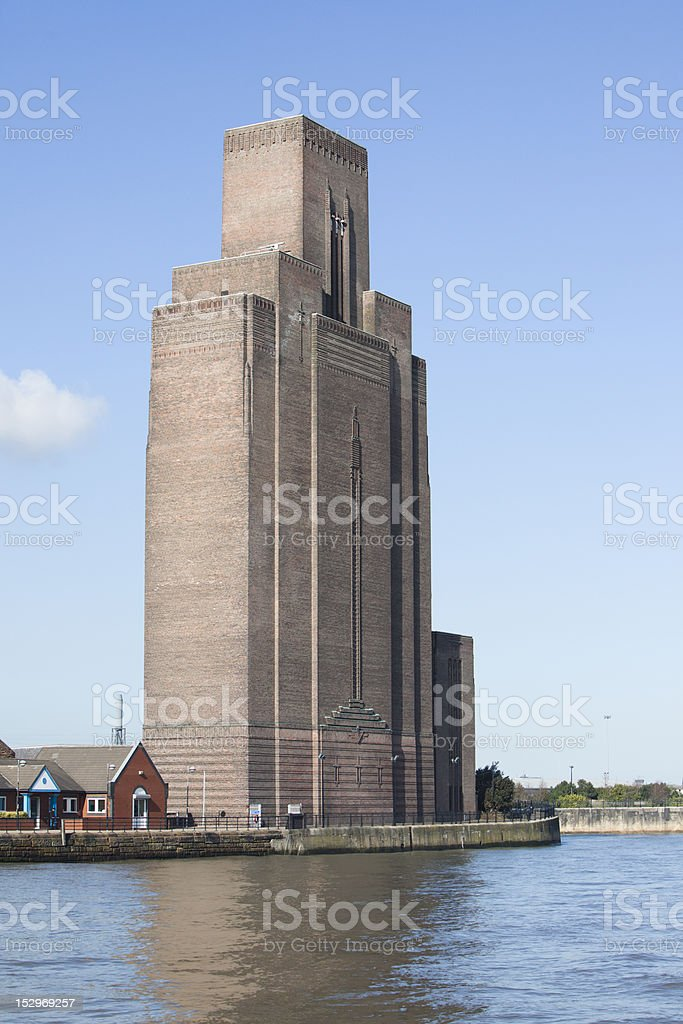 Mersey tunnel ventilation building stock photo