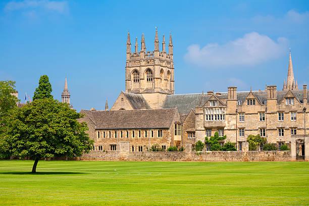 Merton College building in Oxford UK stock photo