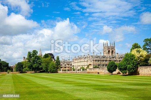 Merton College with chapel, Oxford University, England