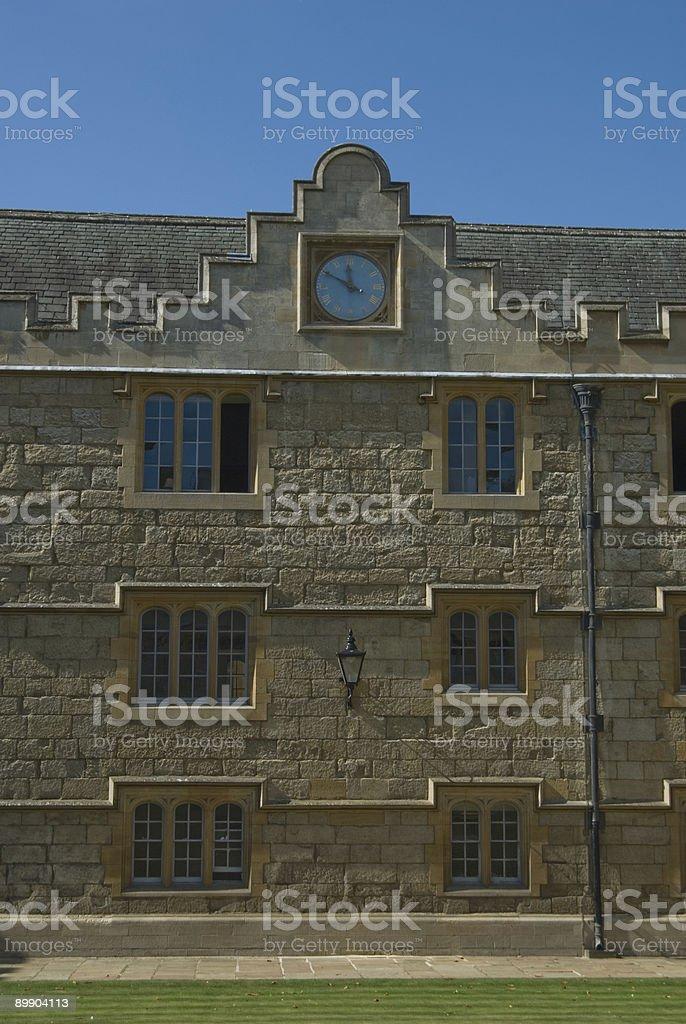 Merton college - Oxford royalty-free stock photo