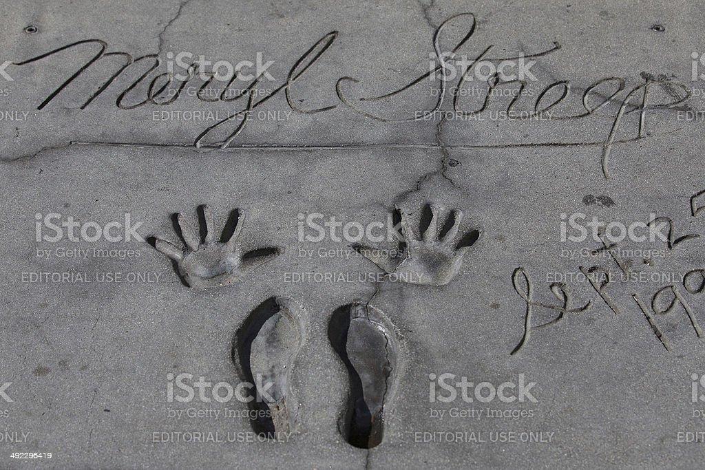 Meryl Streep's autograph stock photo