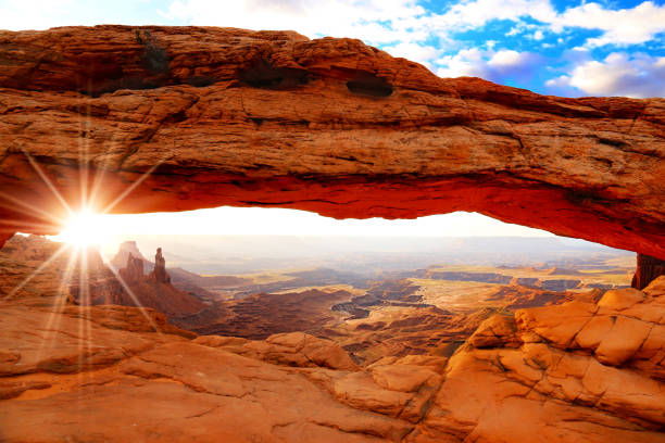 Mesa Arch in Canyonlands National Park, Utah, USA stock photo