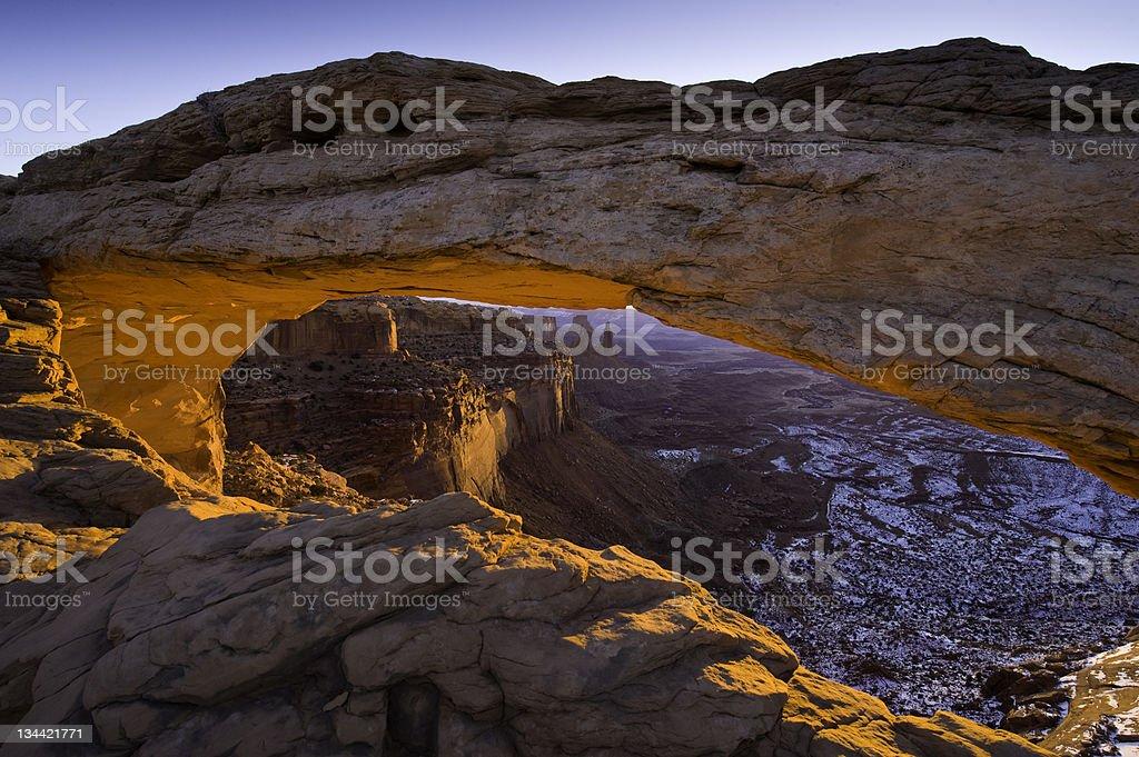 Mesa Arch Landscape Canyonlands Moab Utah royalty-free stock photo