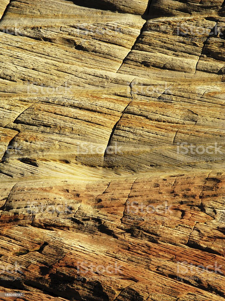 Mesa Geology Zion National Park Checkerboard stock photo