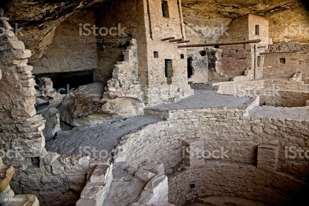 Mesa Verde Cliff Dwellings stock photo