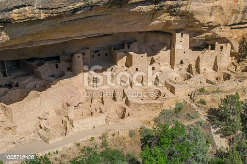 Cliff Palace is one of the most popular ancient cliff dwellings at Mesa Verde National Park.