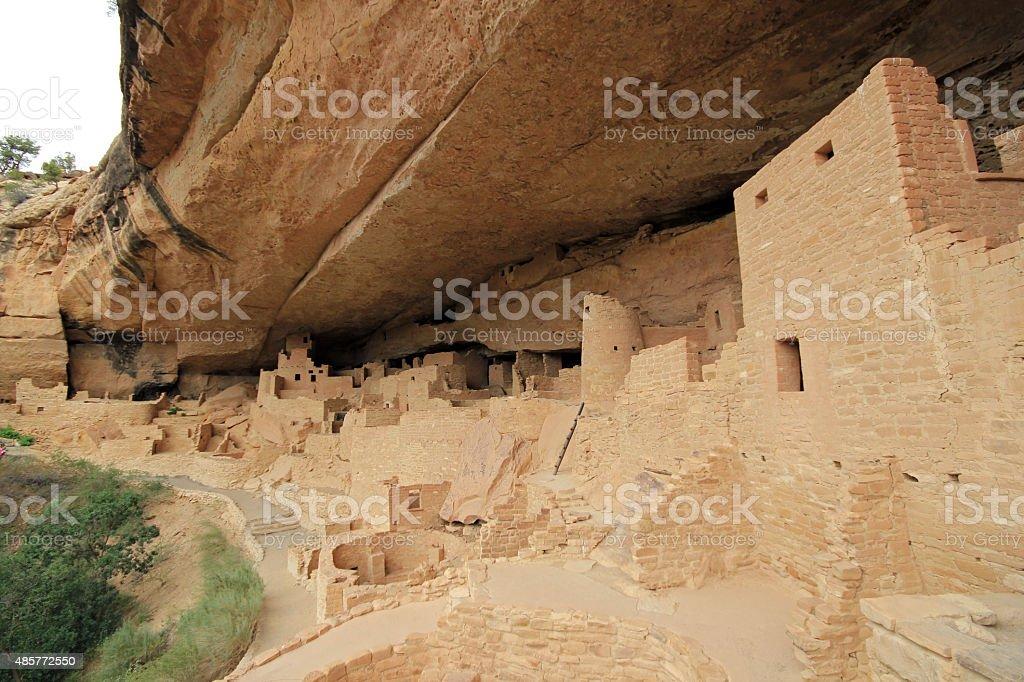 Mesa Verde Cliff Palace bildbanksfoto