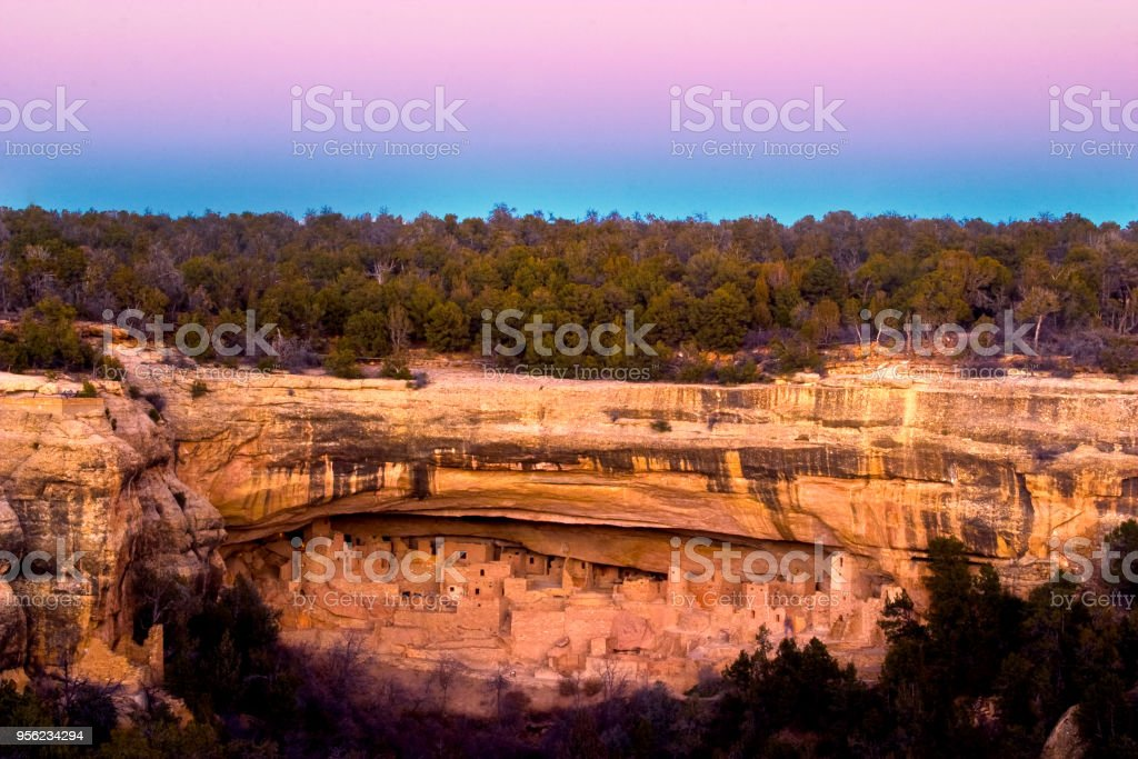 Mesa Verde Cliff Palace stock photo