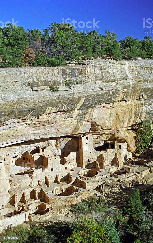 Mesa Verde Cliff stock photo