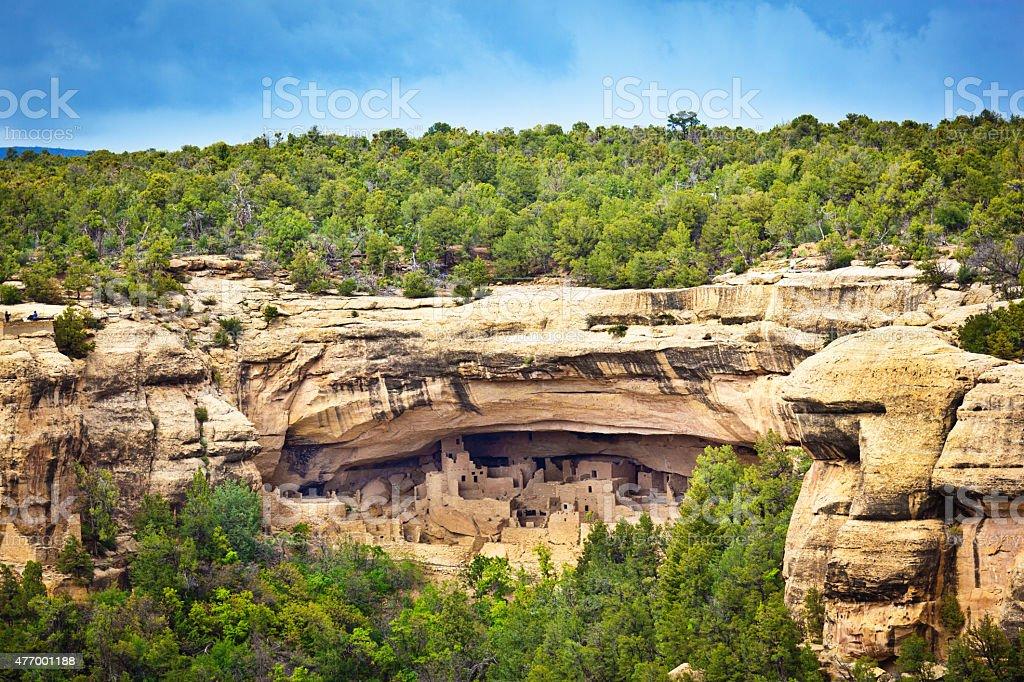 Mesa Verde National Park, Ancient Pueblo Cliff Dwelling, Colorado stock photo