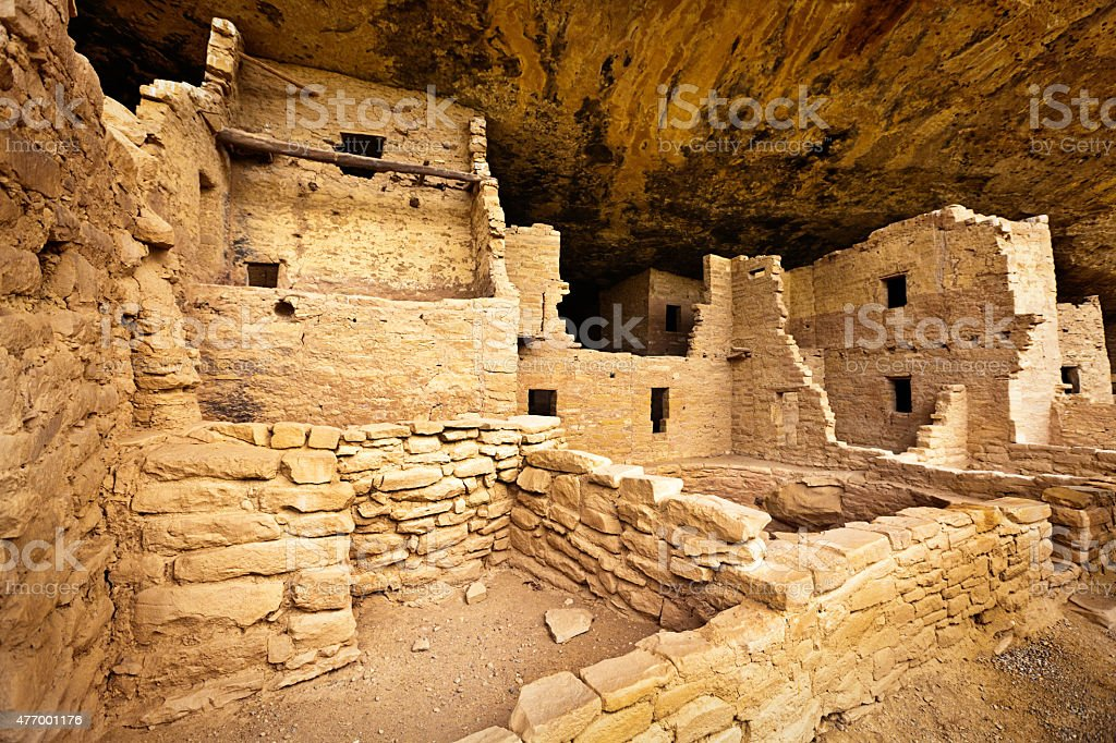Mesa Verde National Park Cliff Dwelling Spruce Tree House stock photo
