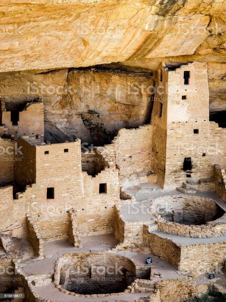 Mesa Verde National Park, Cliff dwellings stock photo