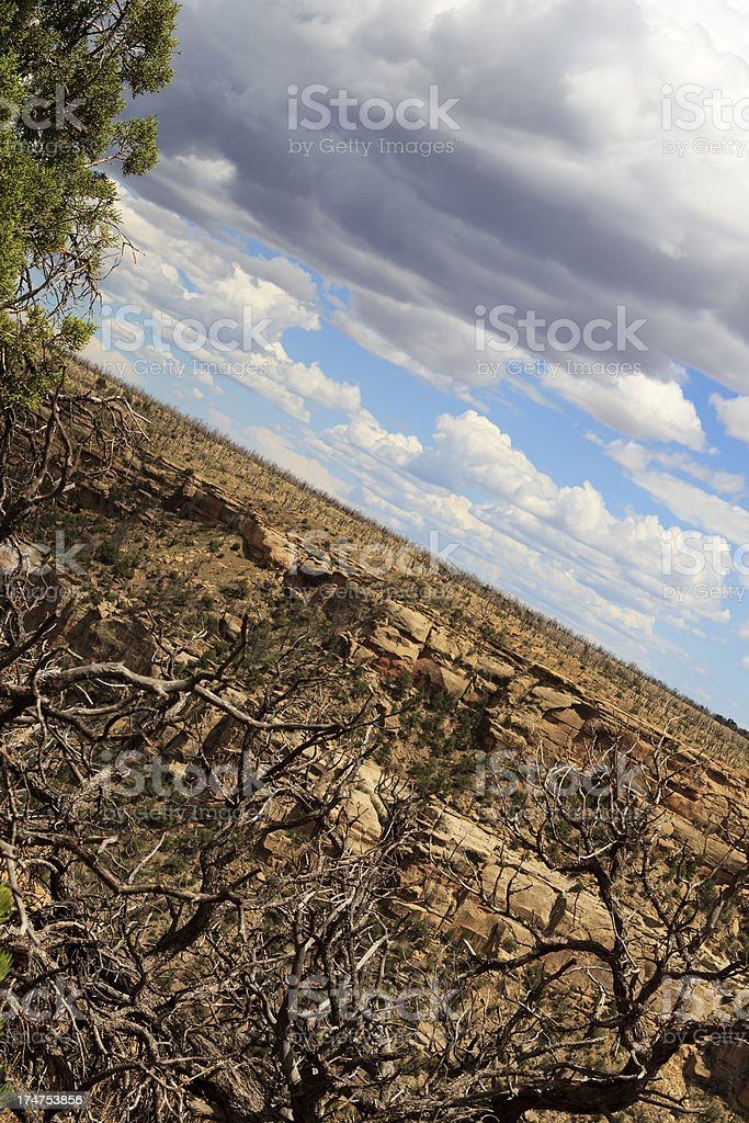 Mesa Verde National Park view royalty-free stock photo