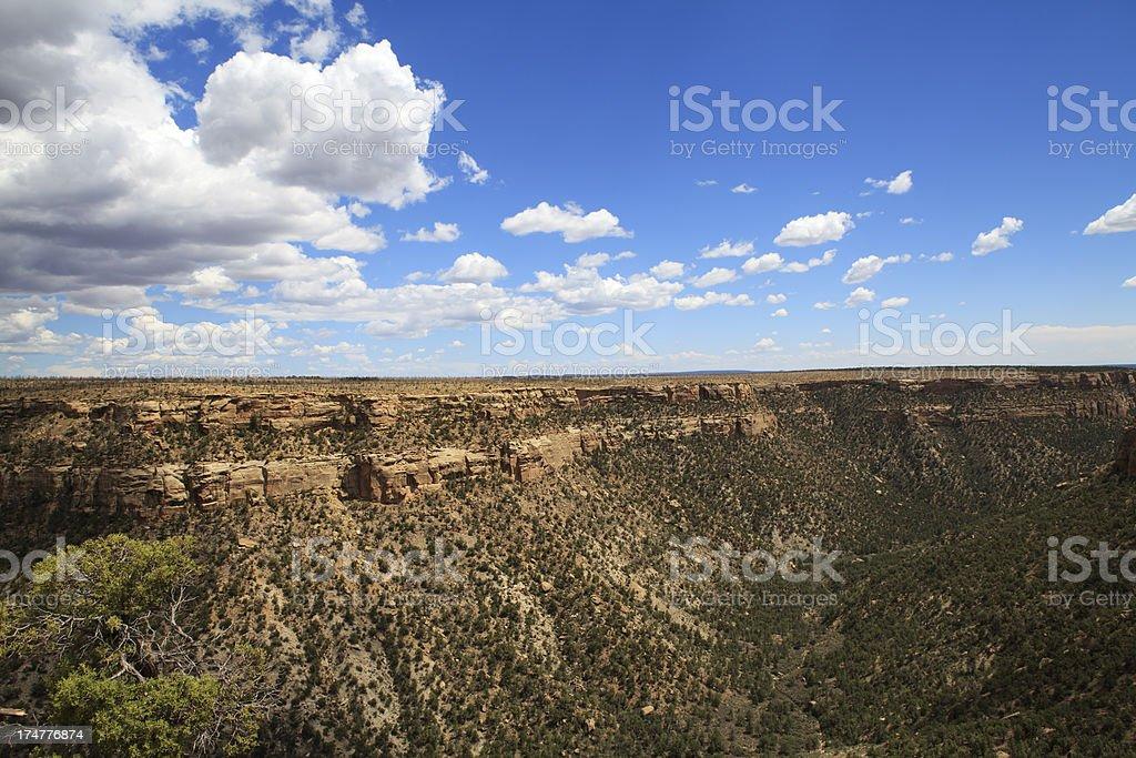 Mesa Verde National Park view royalty-free stock photo