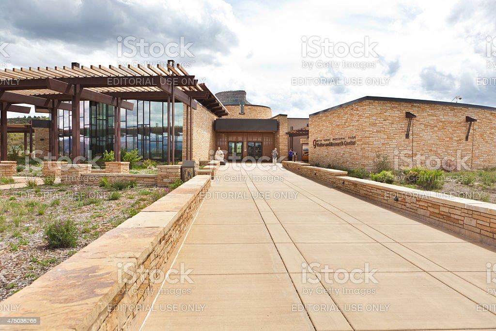 Mesa Verde National Park Visitor Center Entrance, Colorado stock photo