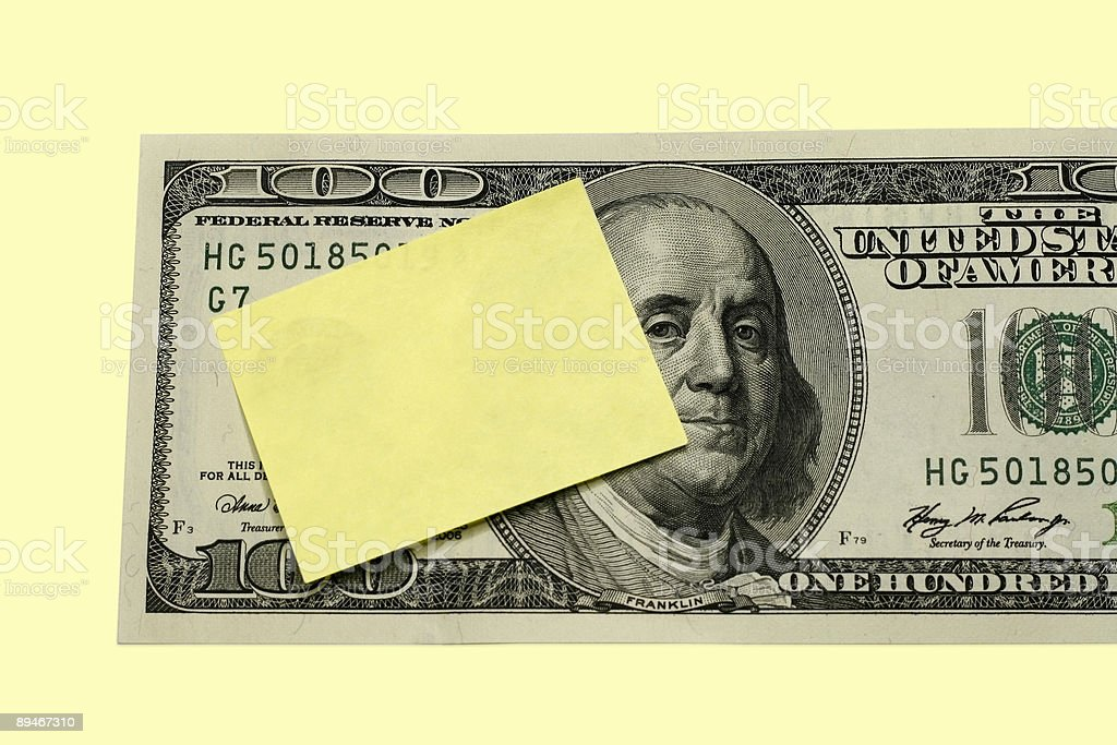 Mesage on Dollar Concept royalty-free stock photo