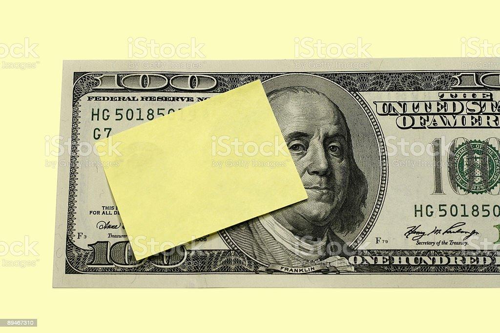 Mesage auf Dollar-Konzept Lizenzfreies stock-foto