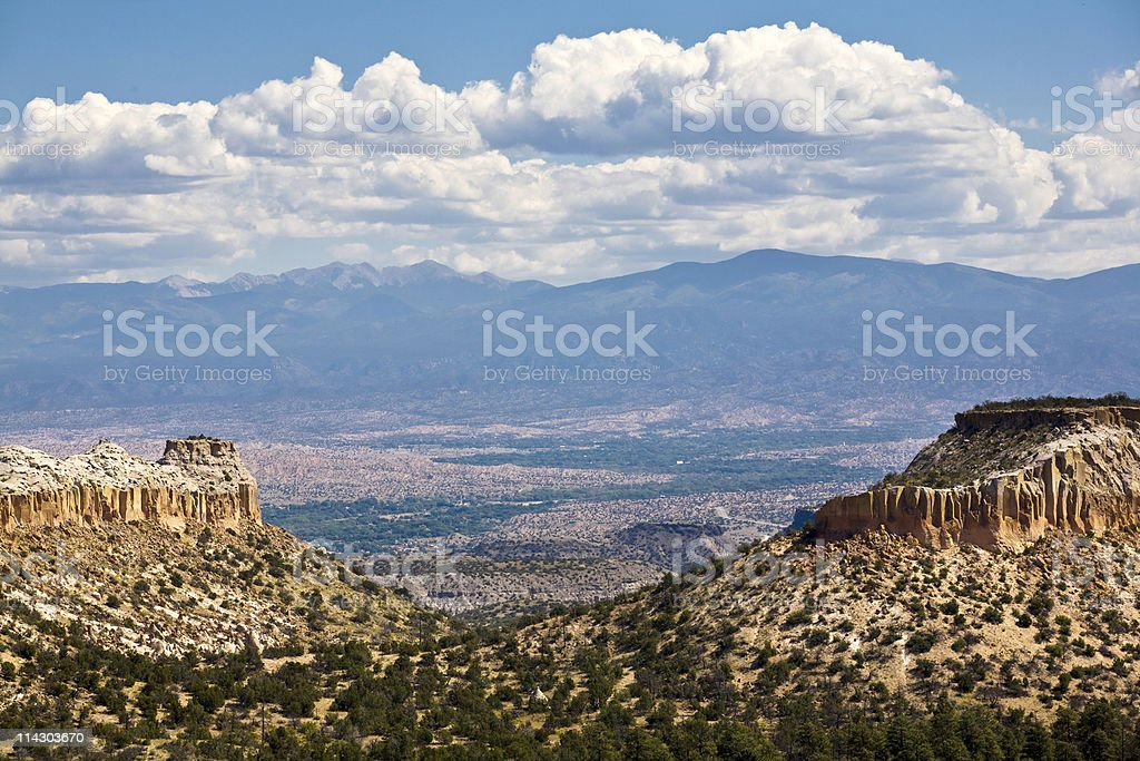 Mesas, Valley and Mountains royalty-free stock photo