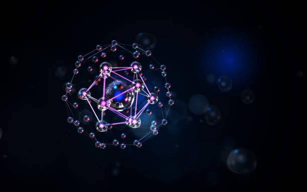 DNA mesh en gloeiende glanzende bokeh foto