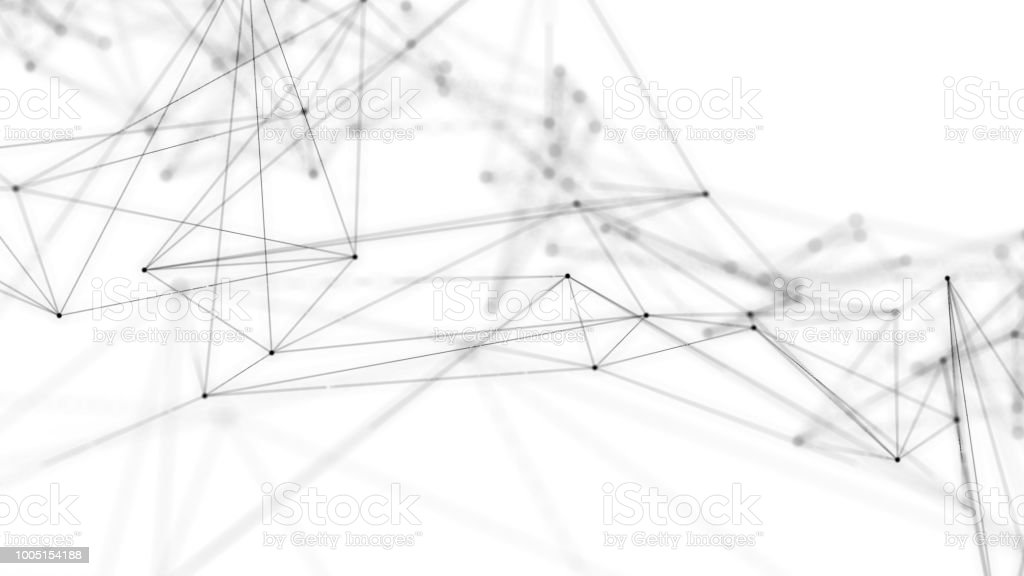 Mesh network concept. stock photo